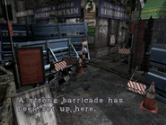 Resident Evil 3 Nemesis screenshot - Uptown - Boulevard examine 03