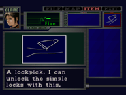 RE2 Lockpick english examination