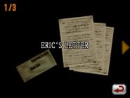 Resident Evil DS - Eric's Letter 1