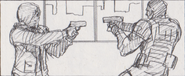 Leon vs. Chris storyboard 15