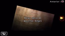 Notas sobre el mostruo Sergei