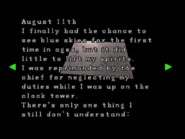 RE2 Watchman's diary 02
