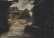 Resident Evil 4 concept art - Village Centre 3