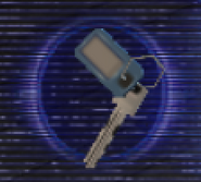 Resident Evil Outbreak items - Key with Blue Tag