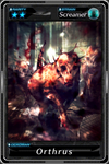 """Deadman's Cross - """"Orthus"""" card"""