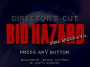 BIOHAZARD DIRECTOR'S CUT DUAL SHOCK Ver. title screen