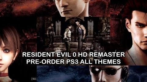 Resident Evil Zero HD REMASTER Pre-Order PS3 All Themes