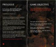 Resident Evil Instruction Booklet 4
