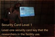 Security Card Level 1 description