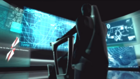 Wesker getting data from UMF-013