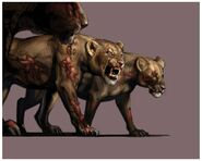 Resident Evil Outbreak - Zombie Lion (Female) CG art 2