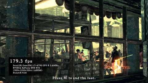 Resident Evil 5 - Fixed Benchmark on GTX 970