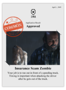 Zombieswanted insurance scam zombie
