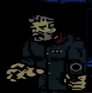 Capitan Zombie apuntando