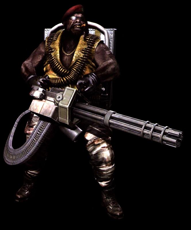 Gatling Gun Majini Resident Evil Wiki Fandom