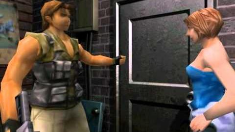 Resident Evil 3 Nemesis cutscenes - Exiting with Carlos (Restaurant's backdoor)