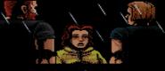 Lucía junto a Leon y Barry