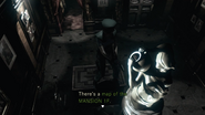 RE1 remake map of the MANSION 1F location