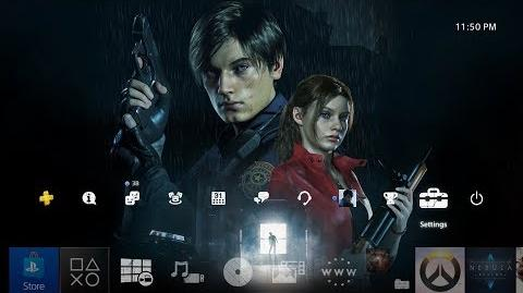 Resident Evil 2 Remake Pre Order Theme PS4