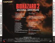 BIOHAZARD 2 ORIGINAL SOUNDTRACK - back cover
