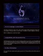 Resident Evil 6 Online Manual PS4 5