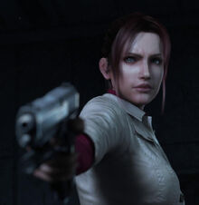 Resident Evil Degeneration screenshot - Claire Redfield with handgun