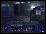 Resident Evil Outbreak items - Storage Room Key 02