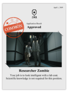 Zombieswanted researcher zombie