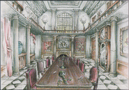 Dining hall concept art