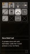 RESIDENT EVIL 7 biohazard Stove (Soid Fuel) inventory