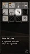 RESIDENT EVIL 7 biohazard White Dog's Head inventory
