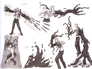 RE5 Uroboros Wesker's attacks concept art