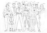 CAPCOM design WORKS - Resident Evil 1-5 Cast
