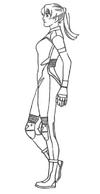 Resident Evil Archives - Elza full body lineart profile