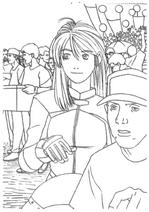 Resident Evil Archives - Early Elza portrait lineart 1st