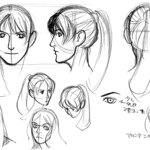 Concept art for Elza and/or Claire.
