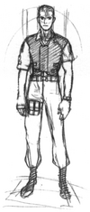 Resident Evil Archives - Early Leon sketch