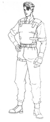 Resident Evil Archives - Early Leon RPD lineart