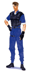 Resident Evil 2 prototype - Leon Scott Kennedy - initial artwork RPD uniform