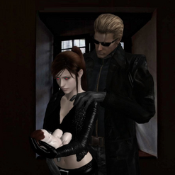 Eve & Wesker with Baby