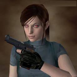 Eve with her Beretta 92F Custom 'Samurai Edge'