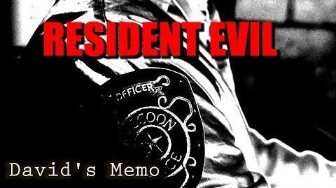Resident Evil David's Memo - Fan Film (Teaser Trailer) 2018