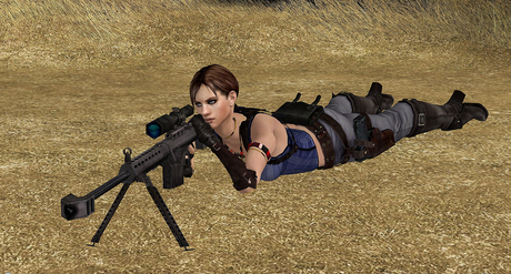 Jane with her Barret M82