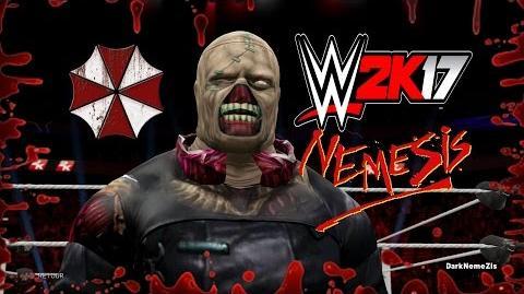 WWE 2K17 creation NEMESIS FROM RESIDENT EVIL