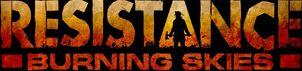 Resistance Burning Skies - Logo