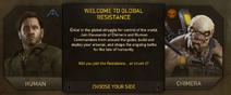 Welcome screen Global Resistance