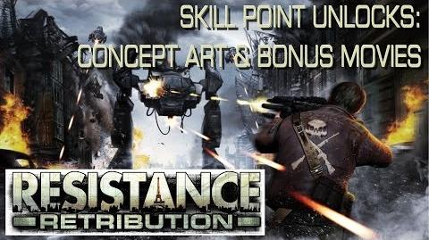 Resistance Retribution - Skill Point Unlocks Concept Art & Bonus Movies