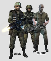 Medic, Special Ops and Soldier