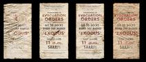 Exodus evacuation posters