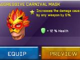 Aggressive Carnival Mask